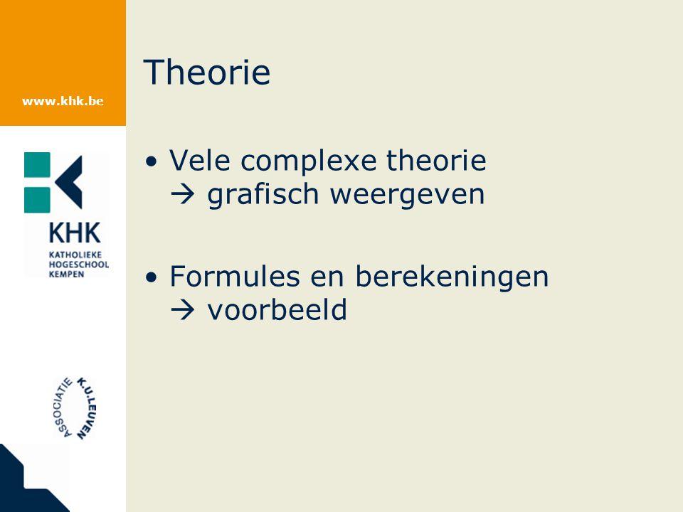 Theorie Vele complexe theorie  grafisch weergeven