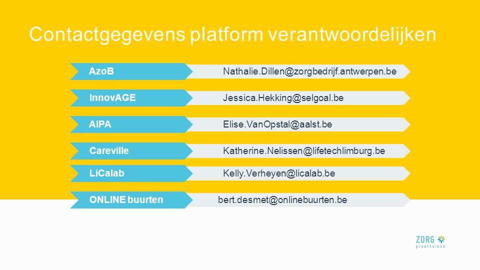 Contactgegevens platform verantwoordelijken