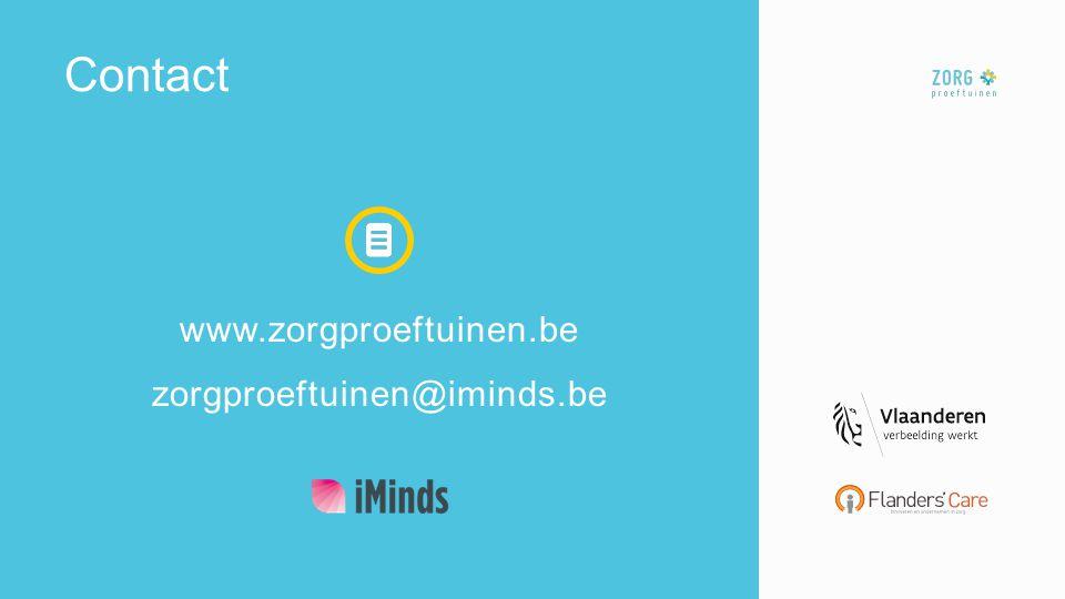 www.zorgproeftuinen.be zorgproeftuinen@iminds.be