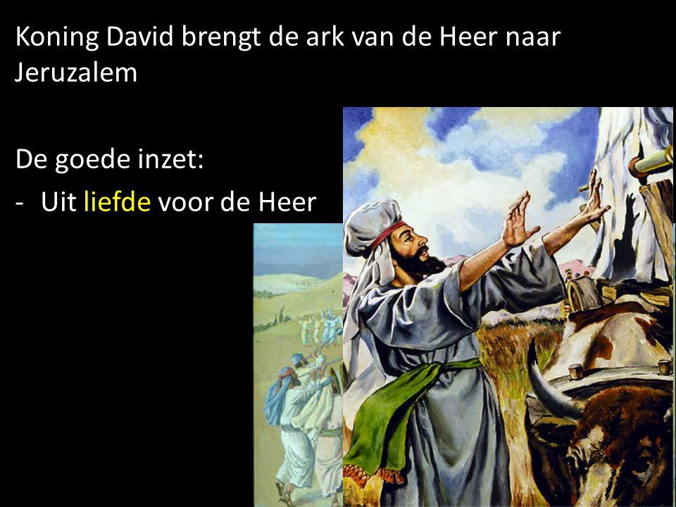 Koning David brengt de ark van de Heer naar Jeruzalem