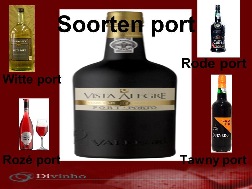 Soorten port Rode port Witte port Rozé port Tawny port