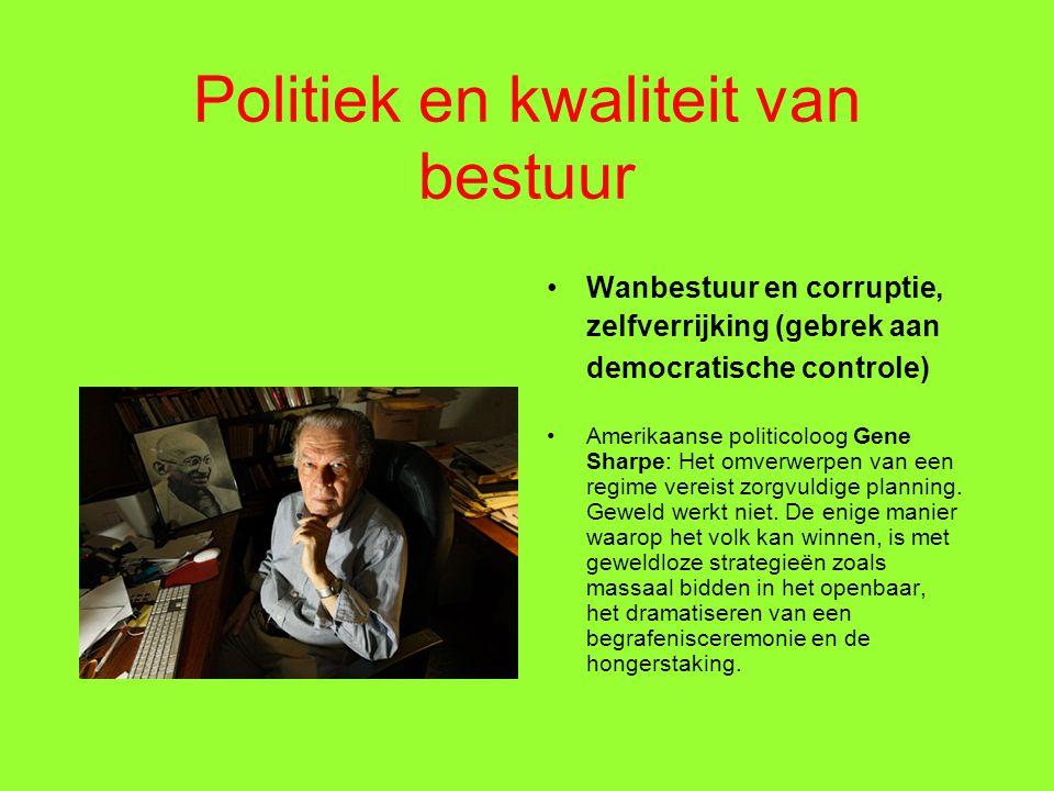 Politiek en kwaliteit van bestuur