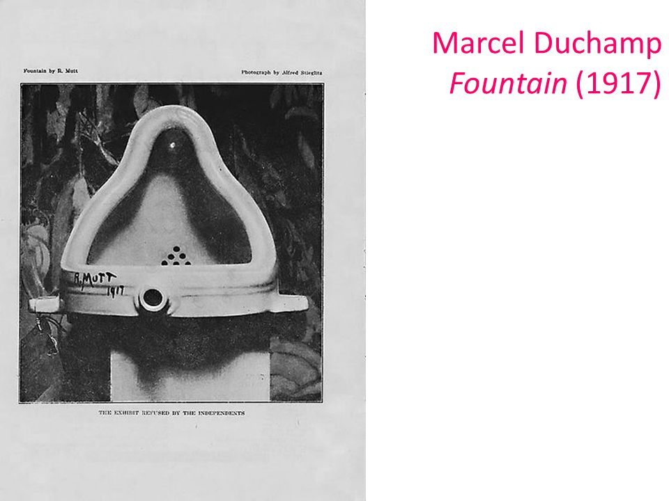 Marcel Duchamp Fountain (1917)