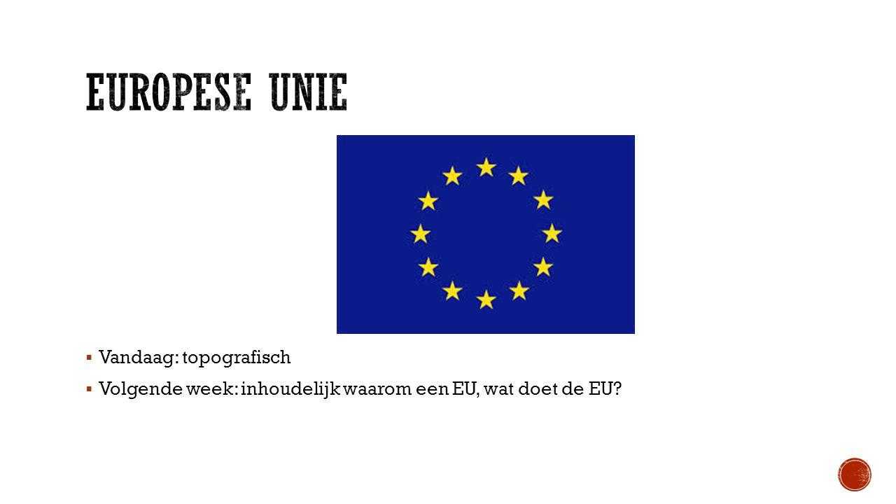 Europese Unie Vandaag: topografisch