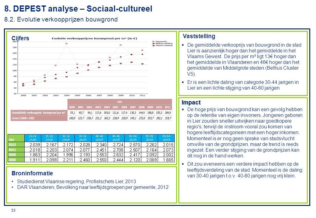 8. DEPEST analyse – Sociaal-cultureel 8. 2