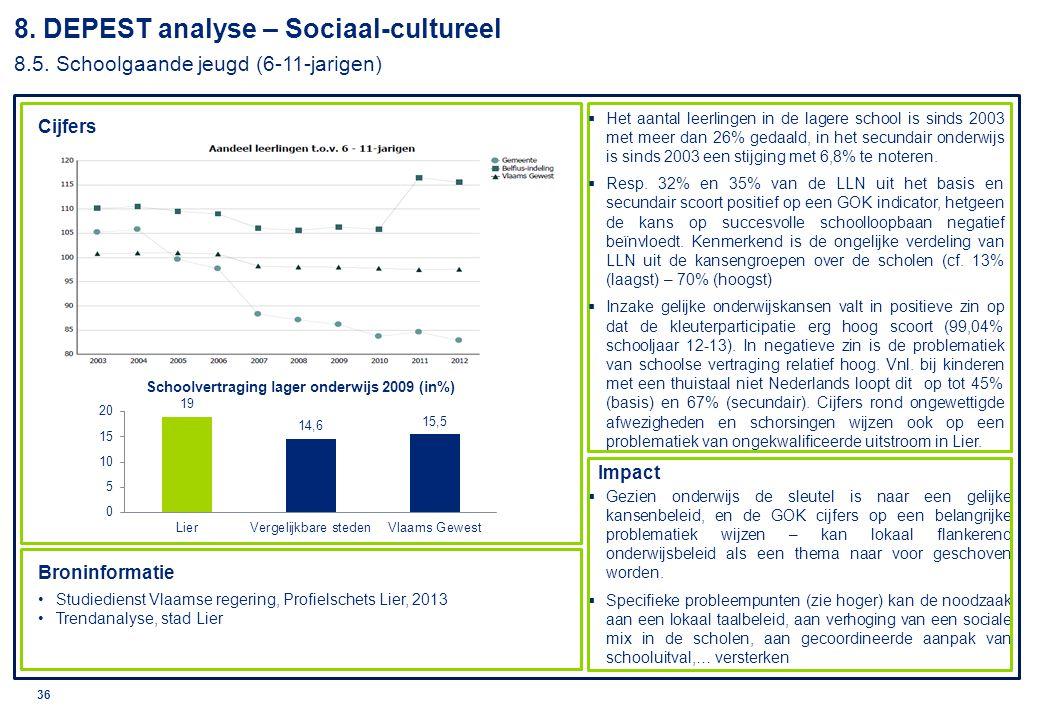 8. DEPEST analyse – Sociaal-cultureel 8. 5