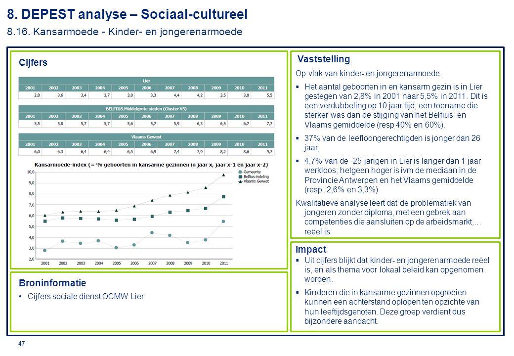 8. DEPEST analyse – Sociaal-cultureel 8. 16