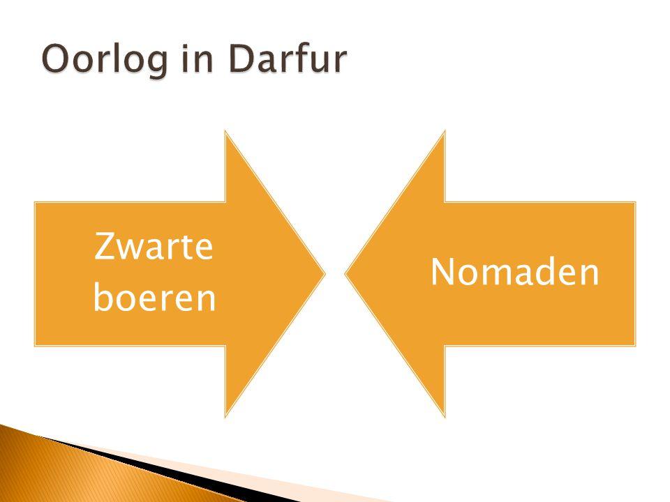 Oorlog in Darfur Zwarte boeren Nomaden