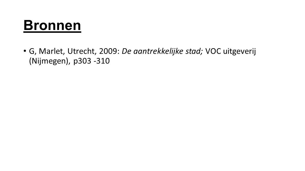 Bronnen G, Marlet, Utrecht, 2009: De aantrekkelijke stad; VOC uitgeverij (Nijmegen), p303 -310
