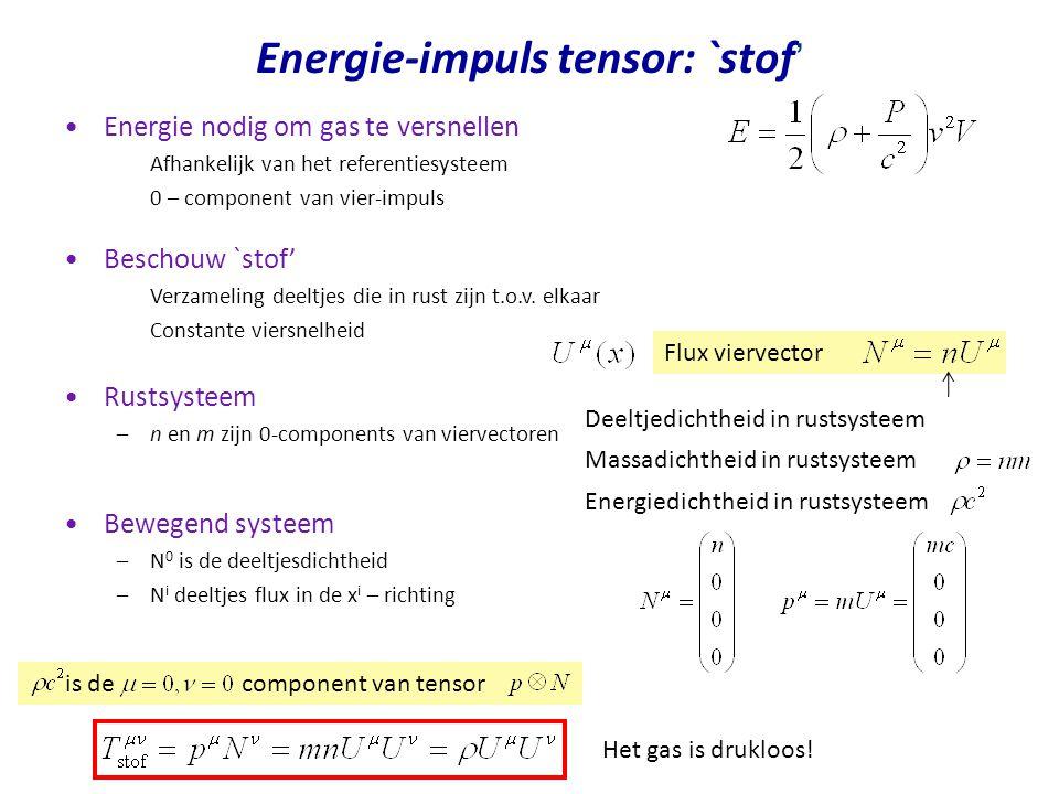 Energie-impuls tensor: `stof'
