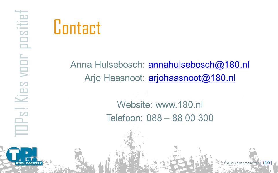 Contact TOPs! Kies voor positief