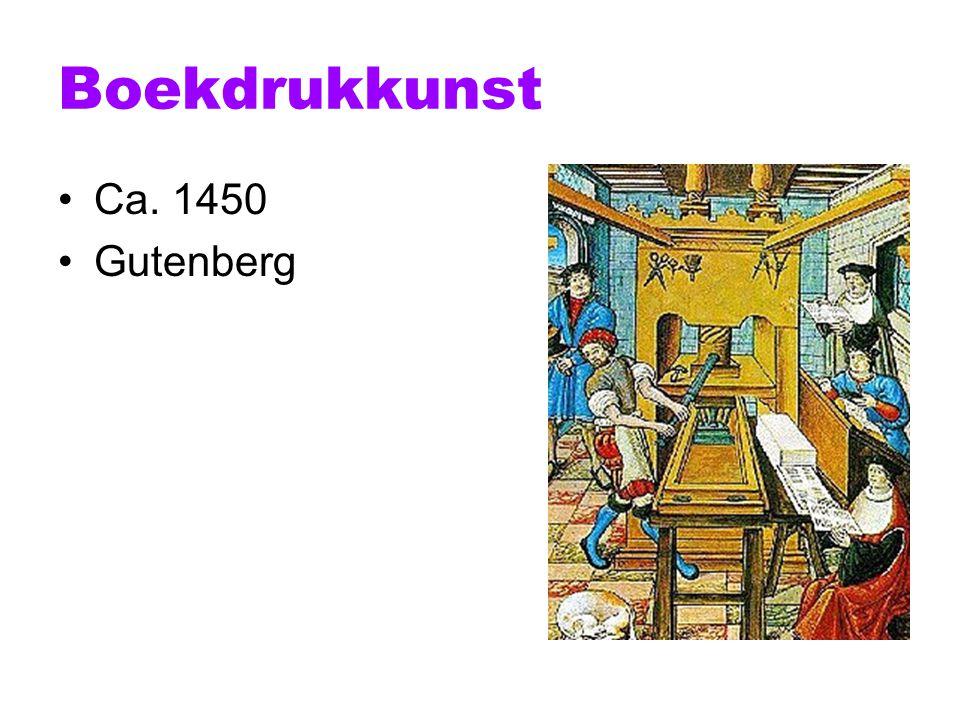 Boekdrukkunst Ca. 1450 Gutenberg