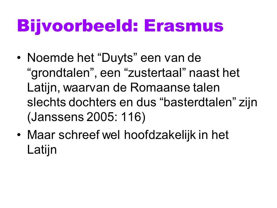 Bijvoorbeeld: Erasmus
