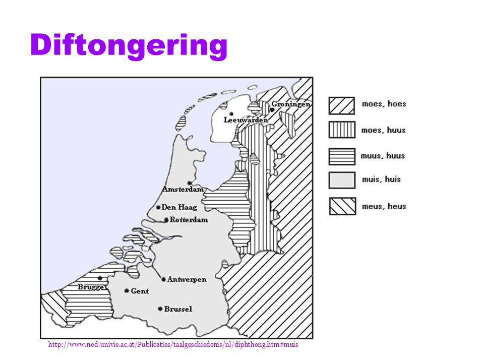 Diftongering http://www.ned.univie.ac.at/Publicaties/taalgeschiedenis/nl/diphthong.htm#muis