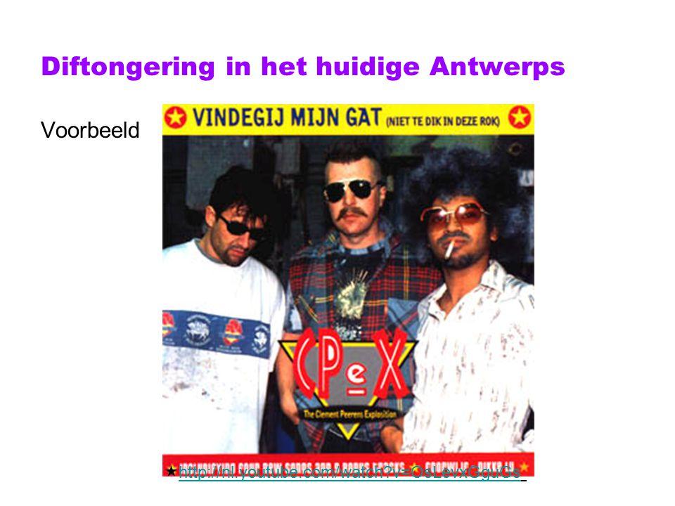 Diftongering in het huidige Antwerps