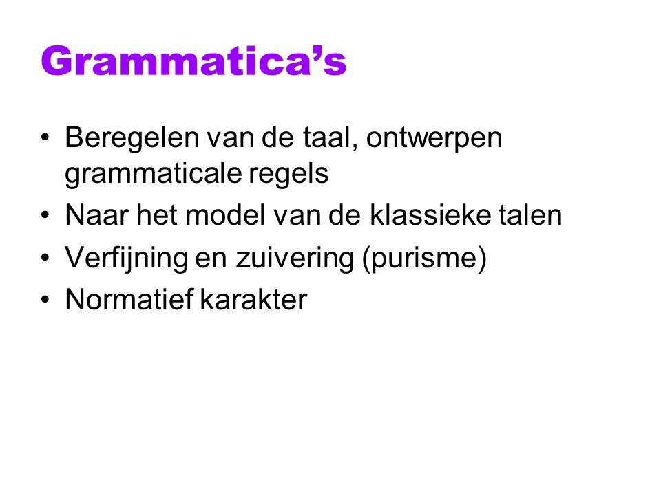 Grammatica's Beregelen van de taal, ontwerpen grammaticale regels