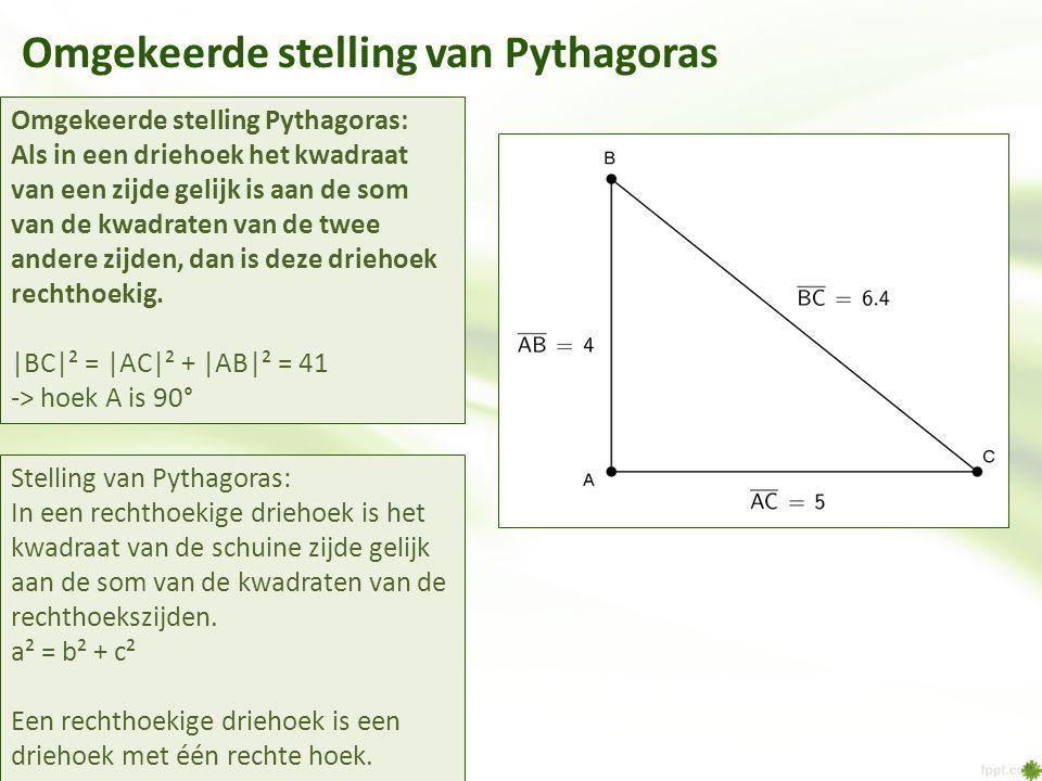 Omgekeerde stelling van Pythagoras