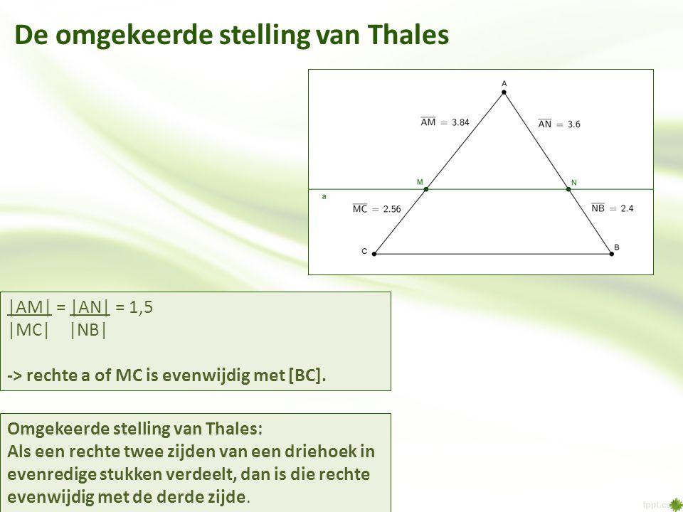 De omgekeerde stelling van Thales