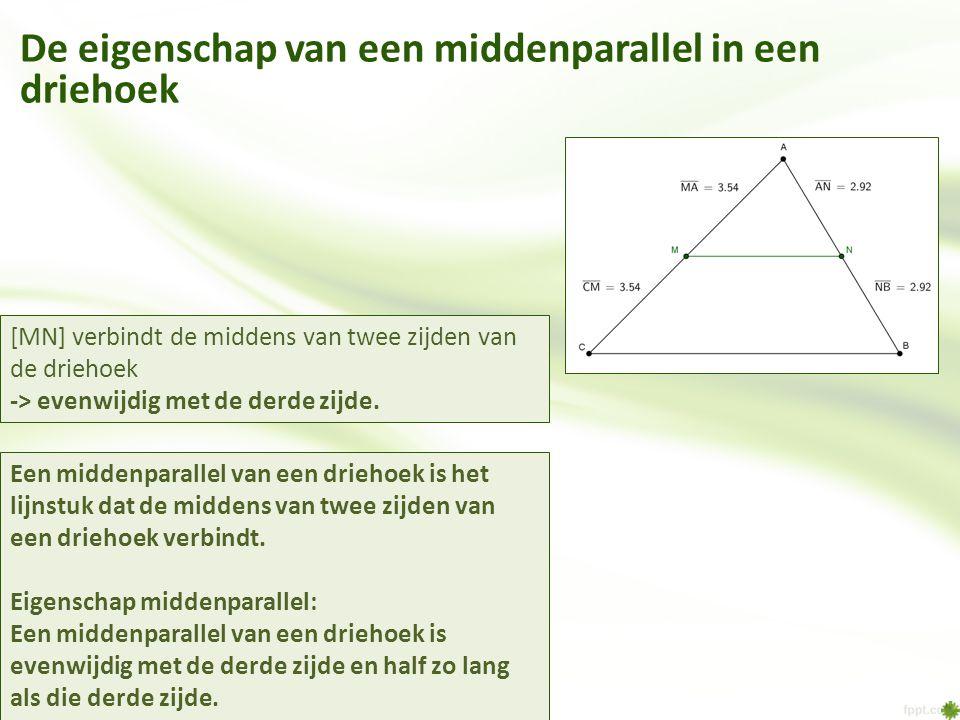 De eigenschap van een middenparallel in een driehoek