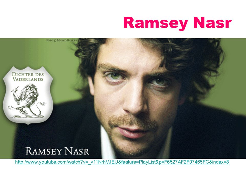 Ramsey Nasr http://www.youtube.com/watch v=_v11NrhVJEU&feature=PlayList&p=F6527AF2F07465FC&index=8