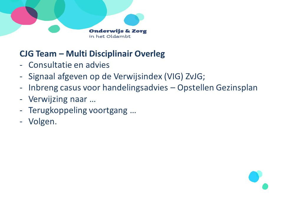 CJG Team – Multi Disciplinair Overleg