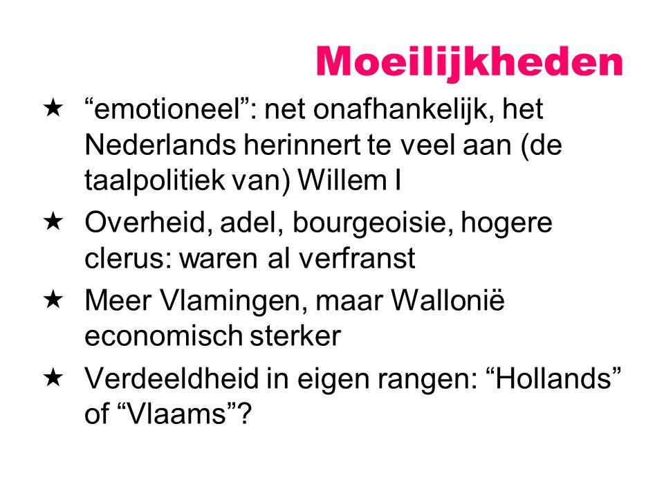Moeilijkheden emotioneel : net onafhankelijk, het Nederlands herinnert te veel aan (de taalpolitiek van) Willem I.