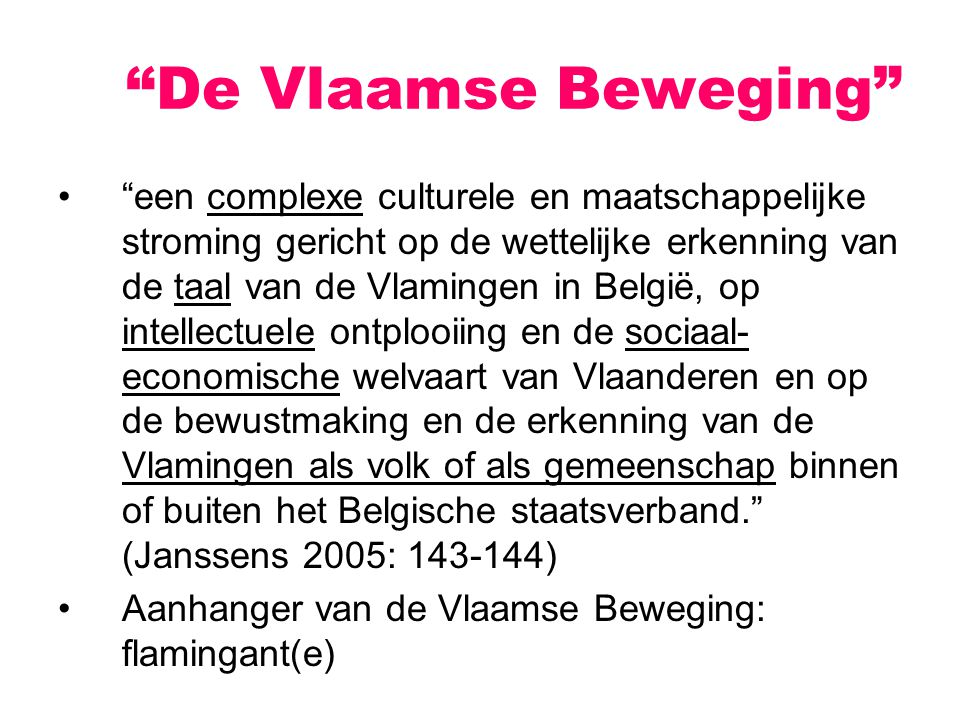 De Vlaamse Beweging