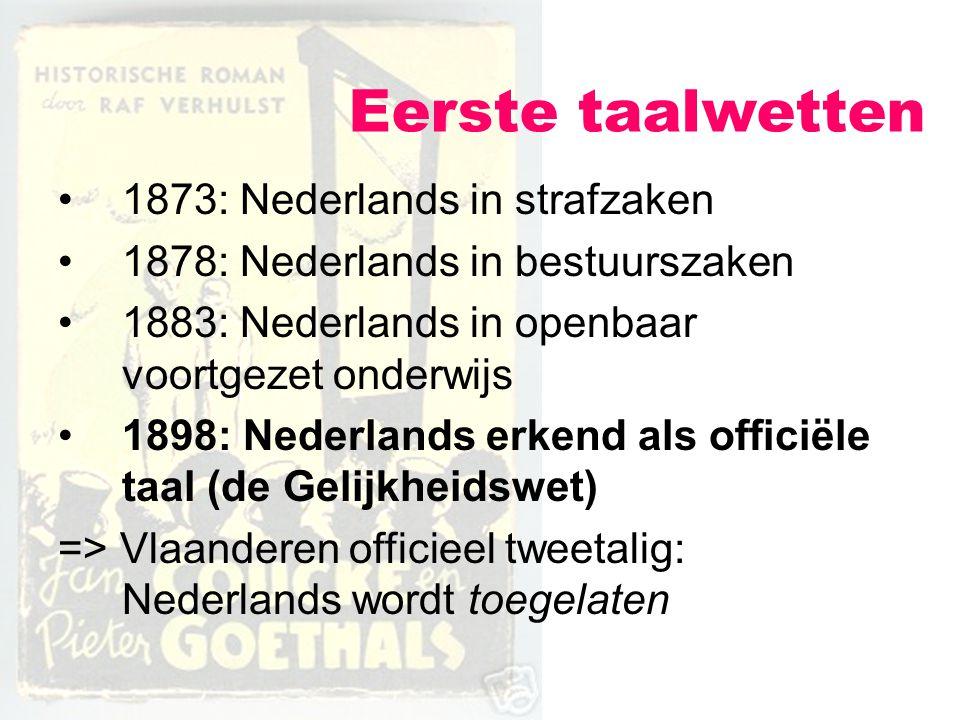 Eerste taalwetten 1873: Nederlands in strafzaken