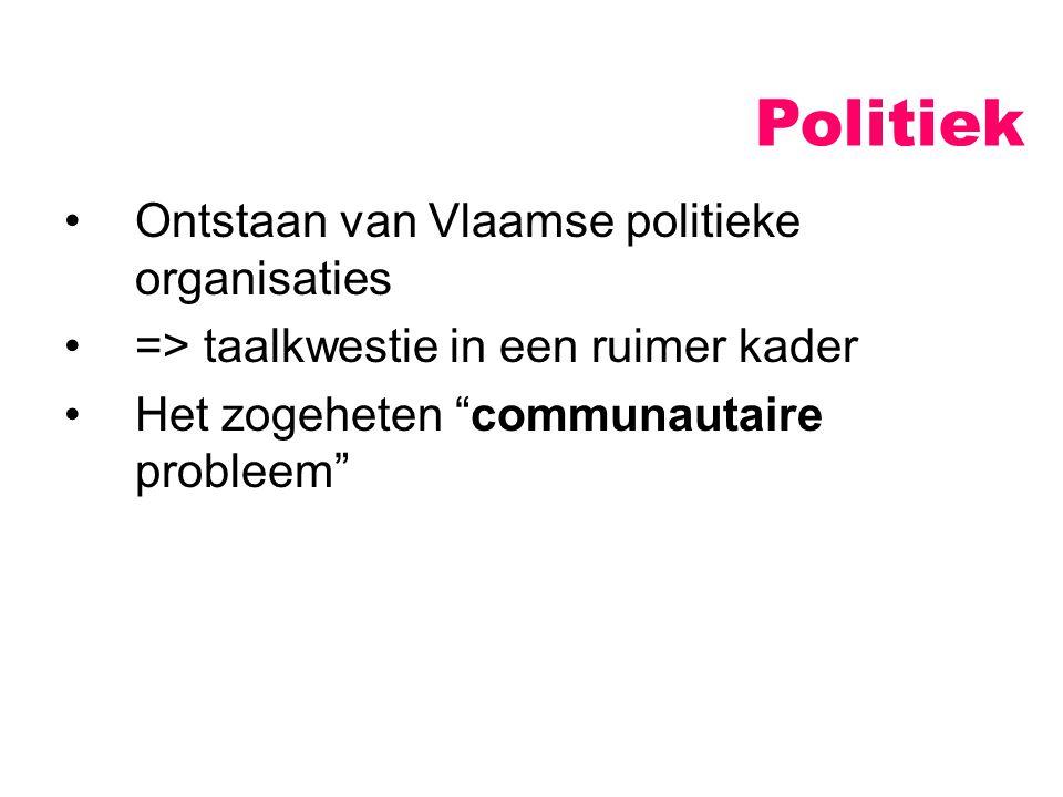 Politiek Ontstaan van Vlaamse politieke organisaties