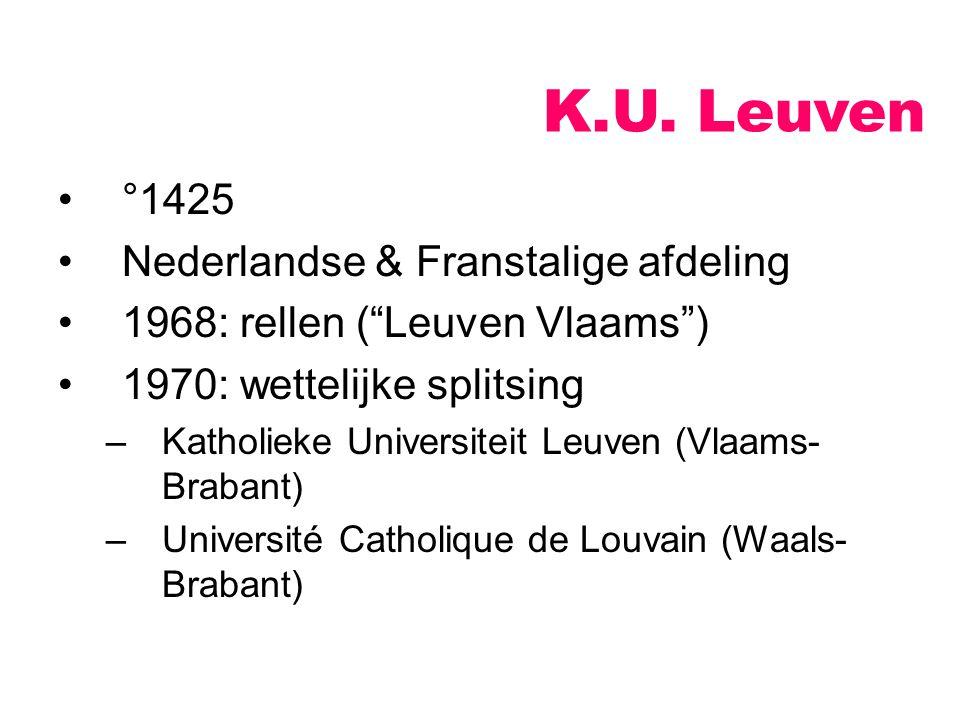 K.U. Leuven °1425 Nederlandse & Franstalige afdeling