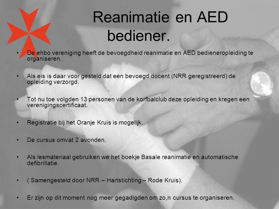 Reanimatie en AED bediener.