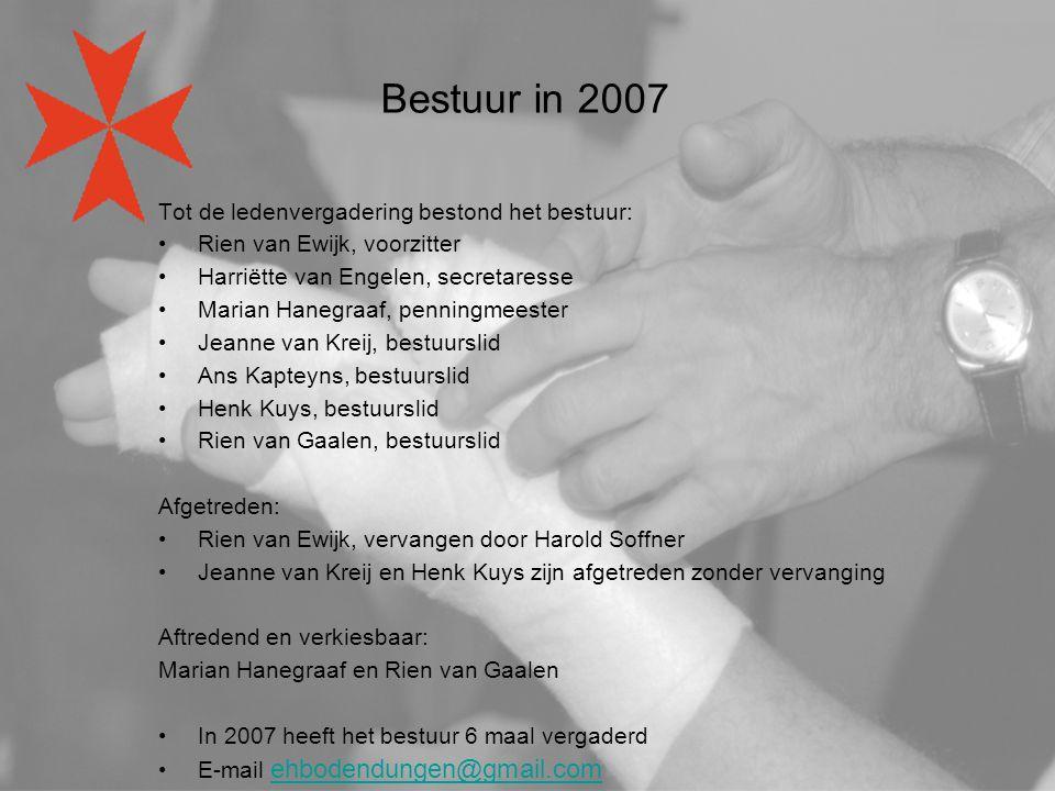 Bestuur in 2007 Tot de ledenvergadering bestond het bestuur: