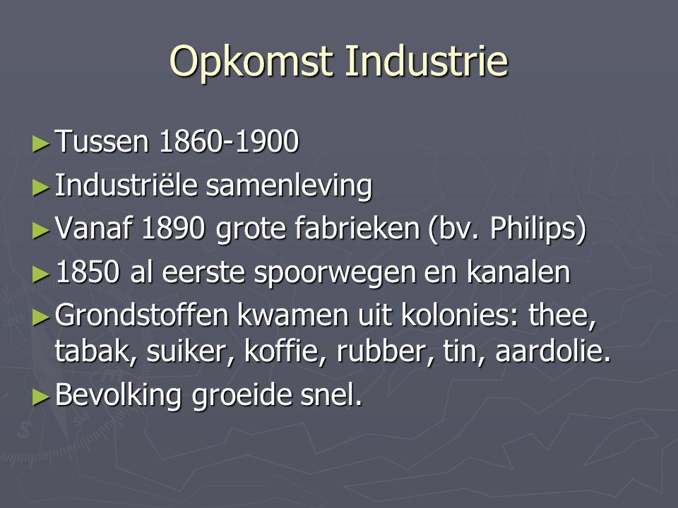Opkomst Industrie Tussen 1860-1900 Industriële samenleving