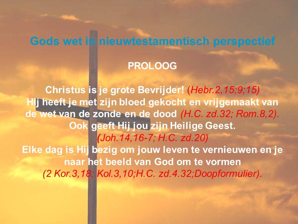 Gods wet in nieuwtestamentisch perspectief