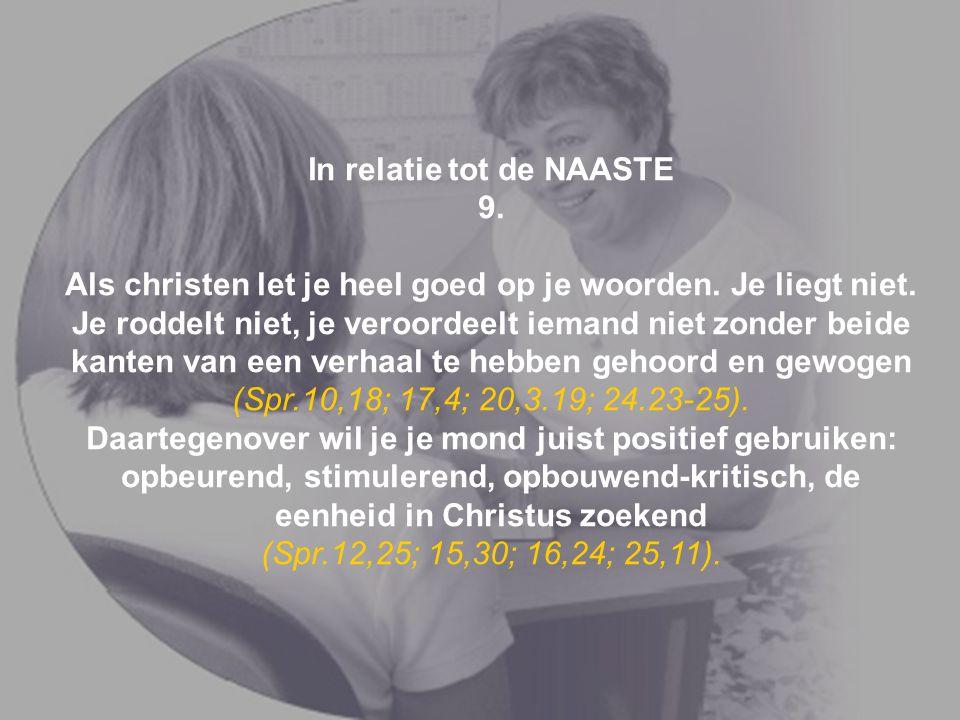 In relatie tot de NAASTE