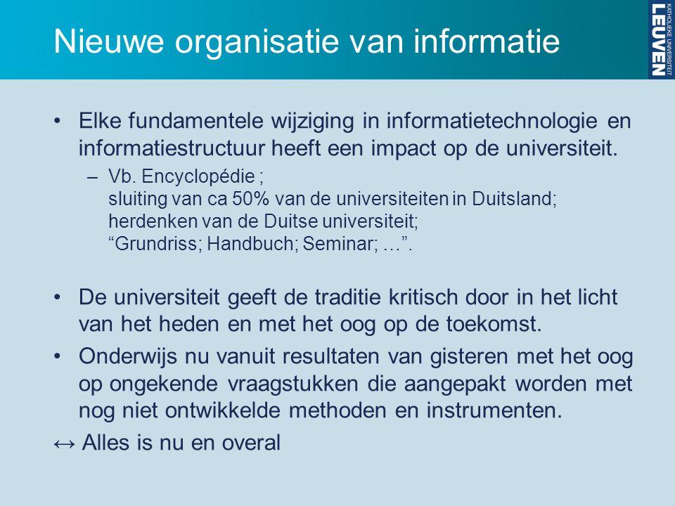 Nieuwe organisatie van informatie