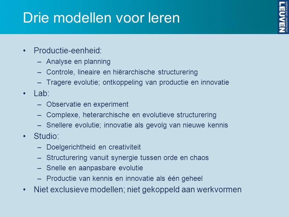Drie modellen voor leren