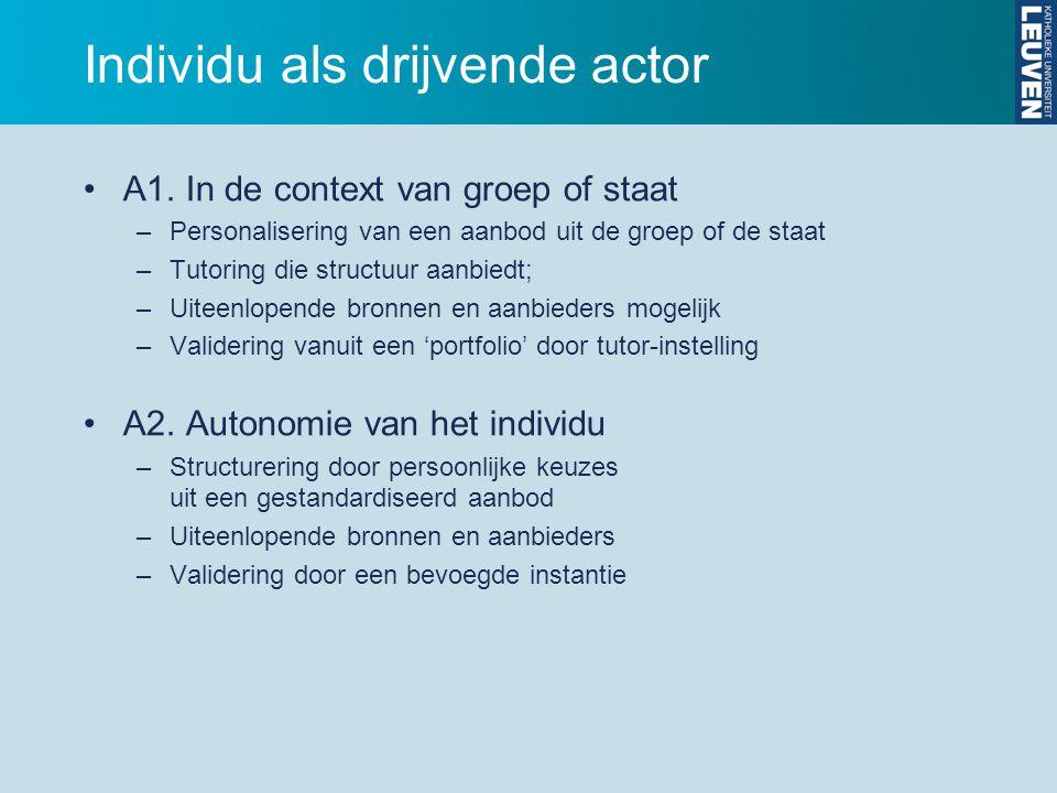 Individu als drijvende actor