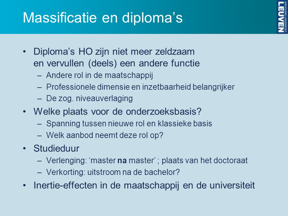 Massificatie en diploma's