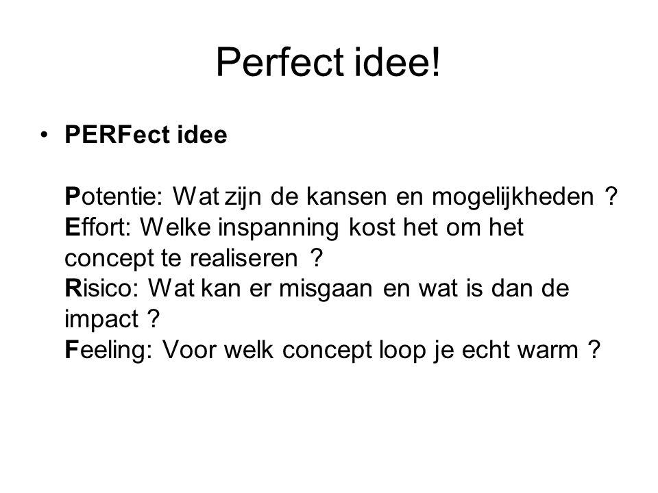 Perfect idee!