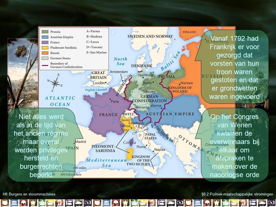 Vanaf 1792 had Frankrijk er voor gezorgd dat vorsten van hun troon waren gestoten en dat er grondwetten waren ingevoerd