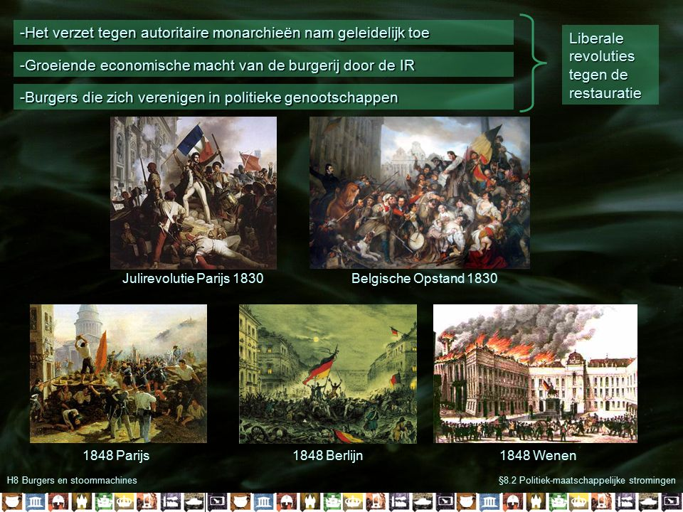-Het verzet tegen autoritaire monarchieën nam geleidelijk toe