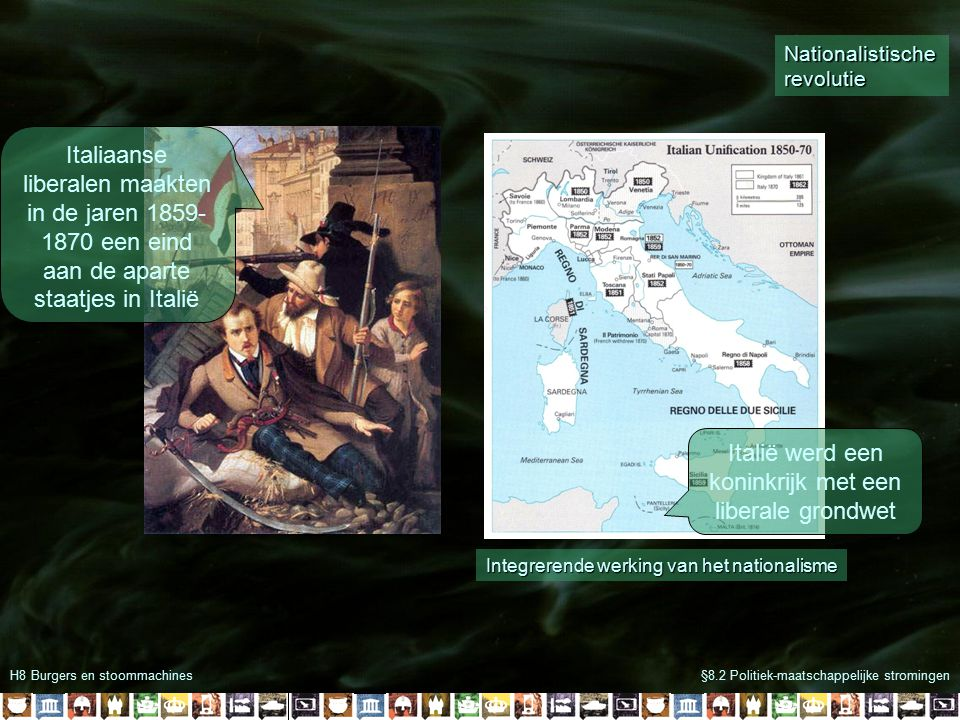 Italië werd een koninkrijk met een liberale grondwet