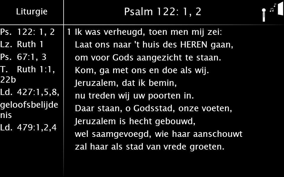 Psalm 122: 1, 2
