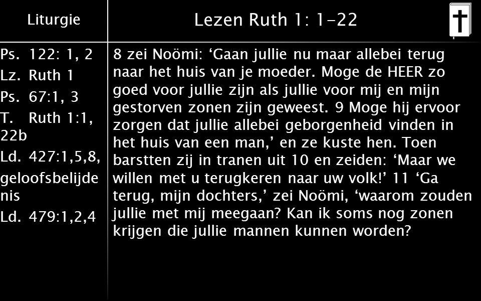 Lezen Ruth 1: 1-22