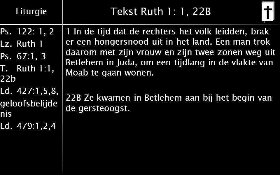Tekst Ruth 1: 1, 22B