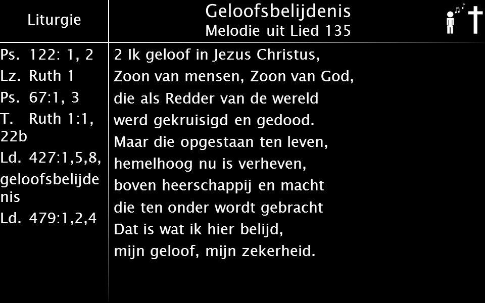 Geloofsbelijdenis Melodie uit Lied 135