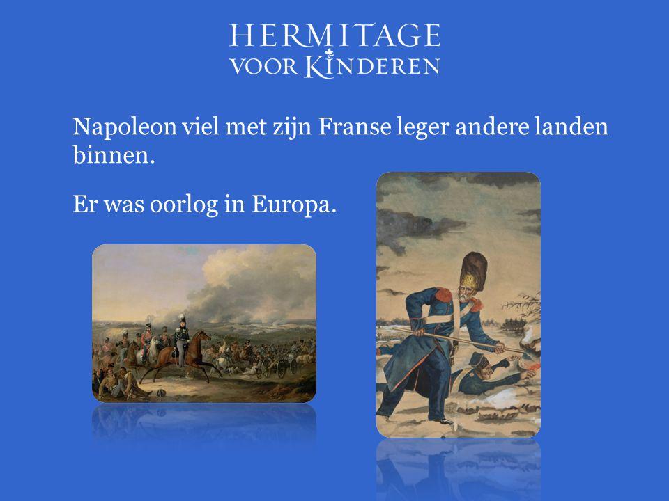 Napoleon viel met zijn Franse leger andere landen binnen.