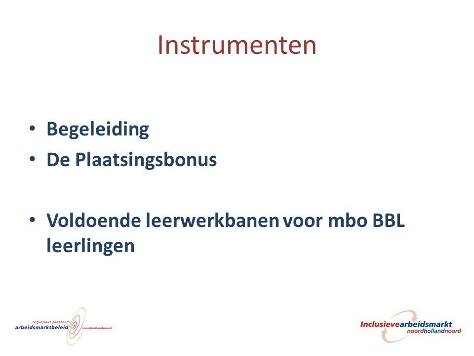 Instrumenten Begeleiding De Plaatsingsbonus