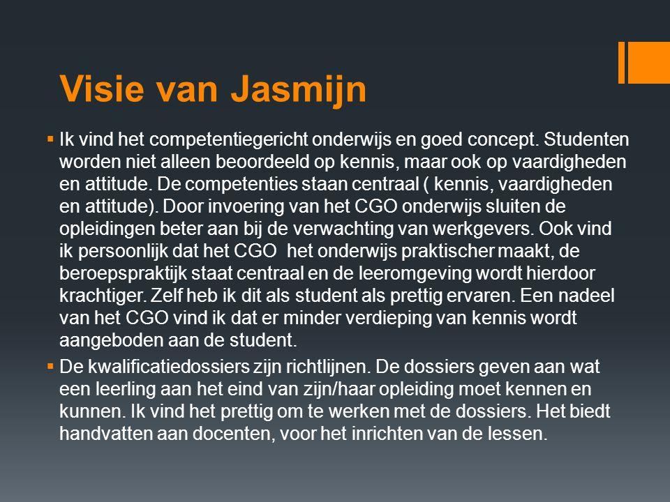 Visie van Jasmijn